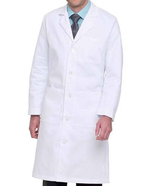 Landau Mens 43.5 inches Full Length Three Pocket Medical Lab Coat