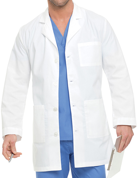 Landau Mens 35 inch Three Pocket Consultation Lab Coat