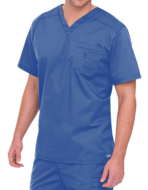 Landau Men's Stretch V-Neck Solid Nursing Scrub top