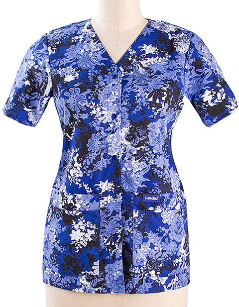 buy landau womens snap front vneck tunic scrub top for 000