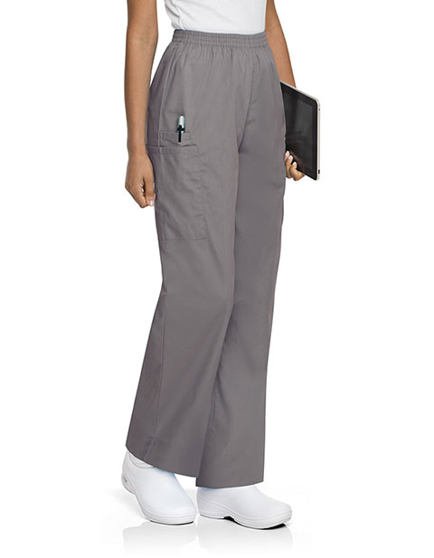Landau Women Cargo Petite Elastic Waistband Scrub Pants