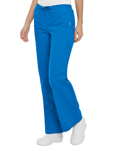 Landau Women Drawstring Flare Leg Medical Scrub Pants
