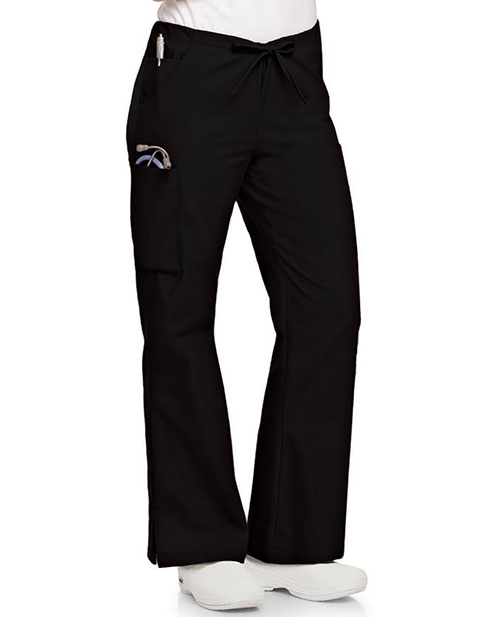 Landau Womens Flare Leg Cargo Medical Scrub Pants