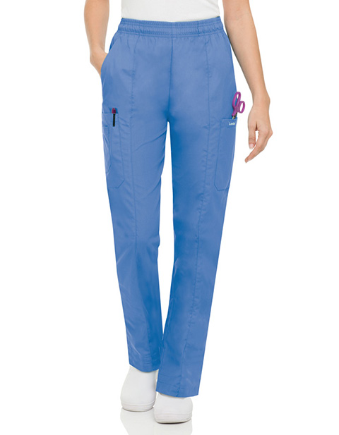 Landau Women Five Pocket Cargo Elastic Waist Scrub Pants