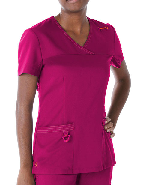 Landau Womens Melissa Surplice Scrub Top