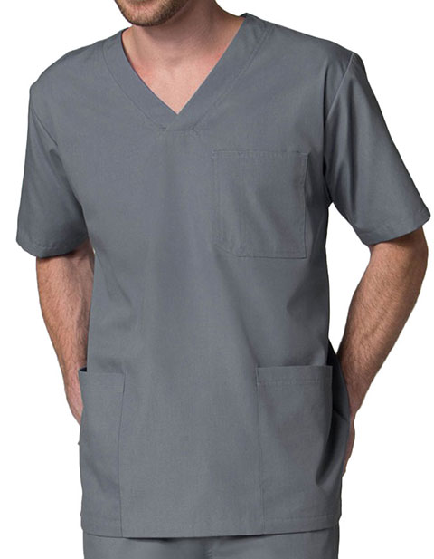 Maevn Red Panda Men's 3-Pocket V-Neck Solid Scrub Top