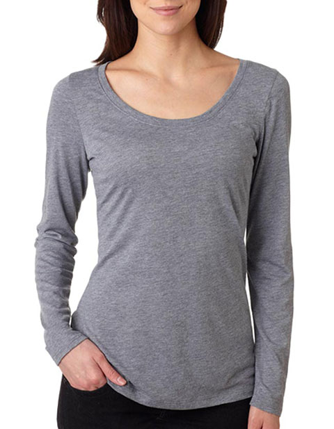 6731 Next Level Tri-Blend Long-Sleeve Scoop Tee