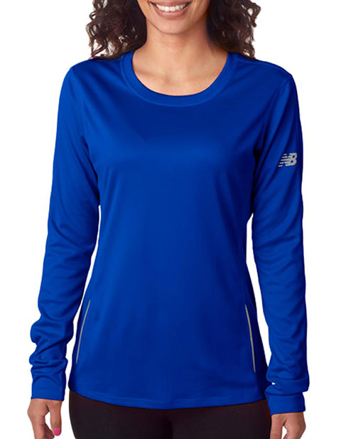 New Balance Ladies' Tempo Long-Sleeve Performance T-Shirt