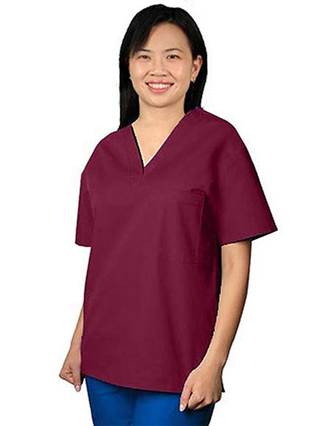 Adar Pro Single Pocket V-Neck Women Nurses Scrub Top