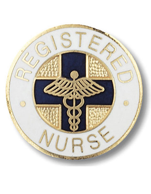 Prestige Gold Plated Registered Nurse Pin