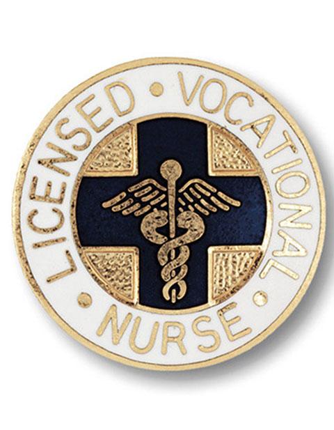 Prestige Gold Plated Licensed Vocational Nurse Emblem Pin