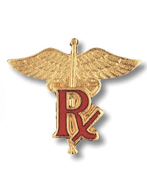 Prestige Pharmacist (RX) Emblem Pin