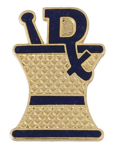 Prestige Blue Enamel Pharmacist (RX) Emblem Pin
