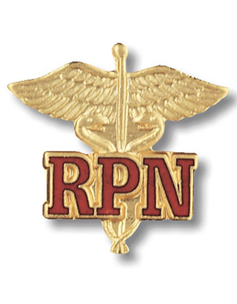 Prestige Registered Practical Nurse Emblem Pin