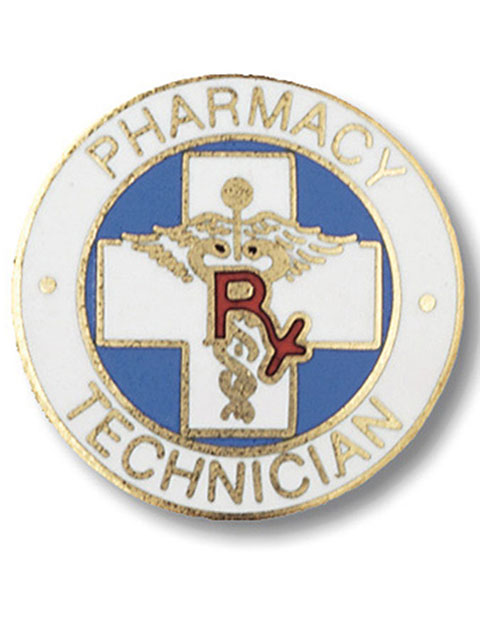 Prestige Pharmacy Technician Emblem Pin