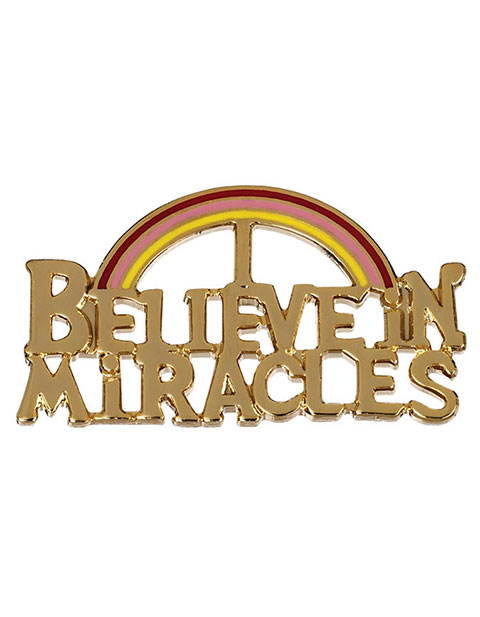 Prestige Believe In Miracles Emblem Pin