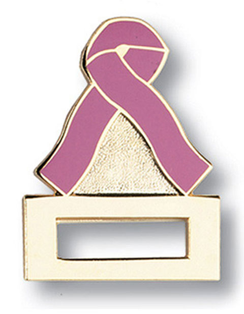 Prestige Pink Ribbon Emblem Badge and Professional Tac Pin