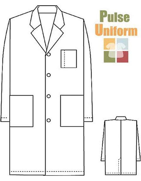 PU Made To Order Unisex Long White Lab Coat
