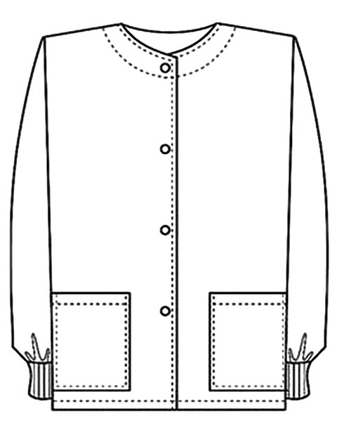 PU Made To Order Unisex Two Pocket Jewel Neck Warm Up Scrub Jacket