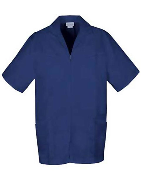 PU Made To Order Men's Two Pocket Zip Front Medical Scrub Jacket