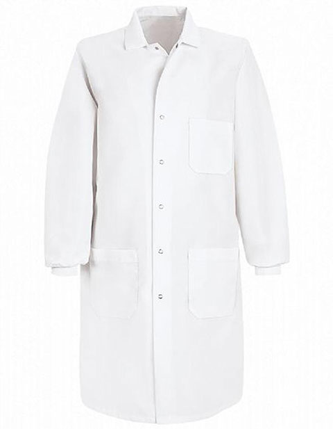Red Kap Unisex Three Pocket Cuffed Specialized 41.5 inch Long Lab Coat