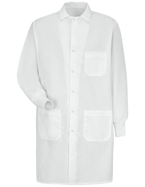 Red Kap Three Pocket Specialized Cuffed White Unisex Lab Coat