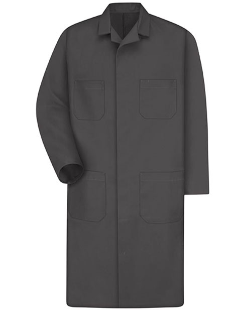 Red Kap Men's 43.75 inch Four Pocket Charcoal Shop Coat