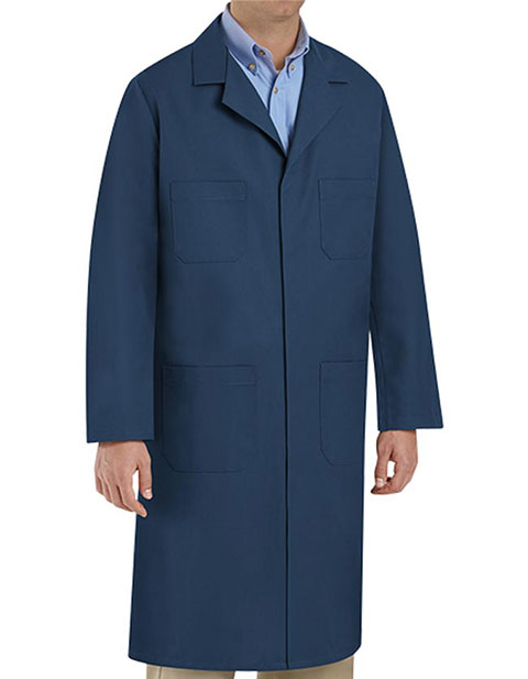 Red Kap Men's 43.75 Inches Four Pocket Navy Shop Coat