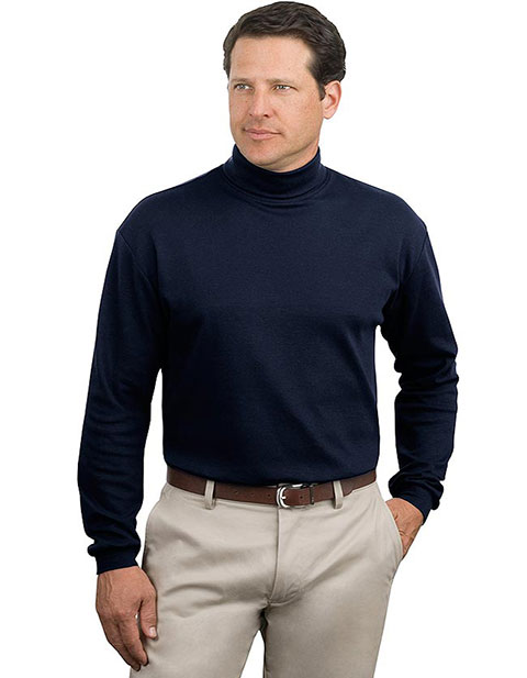 buy sanmar port authority men interlock knit turtleneck