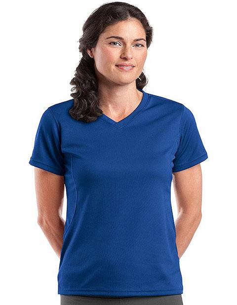 Sanmar Sport-Tek Womens Dry Mesh V-Neck T-Shirt