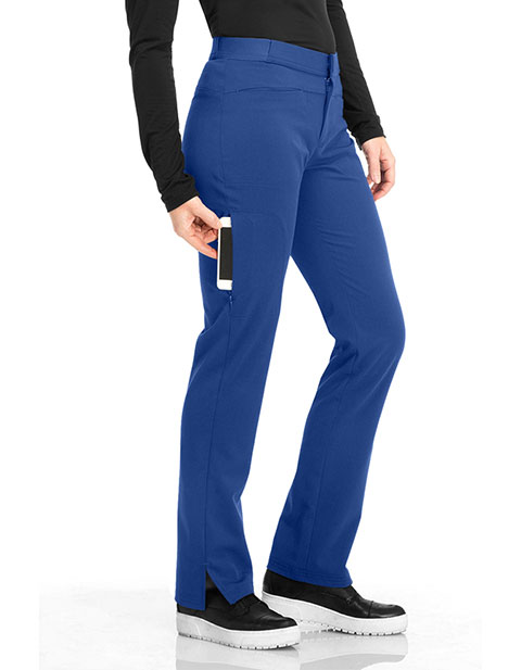 Sapphire Luxury Women's Petite Roma Low Rise Zip Fly Slim Pant