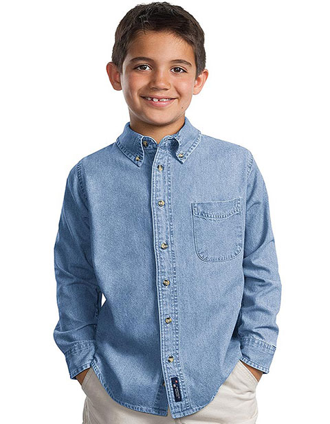 Sanmar Port & Company Unisex Long Sleeve Value Oxford T-Shirt