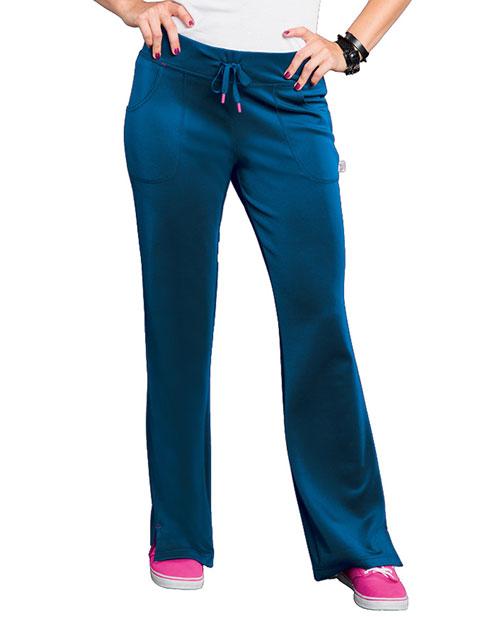 Smitten Women's Side Slit Yoga Petite Scrub Pant