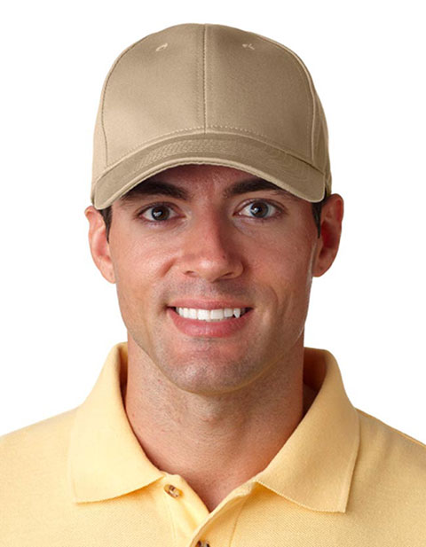 8101 UltraClub Classic Cut Chino Cotton Twill Constructed Cap