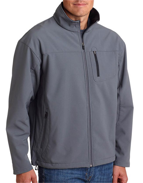 8280 UltraClub Adult Soft Shell Jacket with Cadet Collar