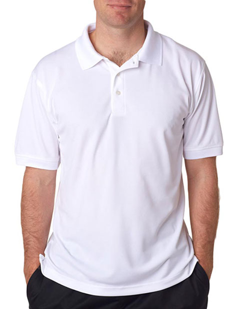 UltraClub Men's Platinum Performance Piqué Polo with Temp Control