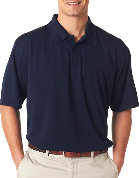 UltraClub Men's Platinum Performance Jacquard Polo with TempControl