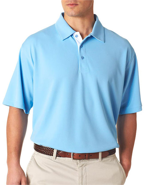 UltraClub Men's Platinum Performance Birdseye Polo with Temp Control