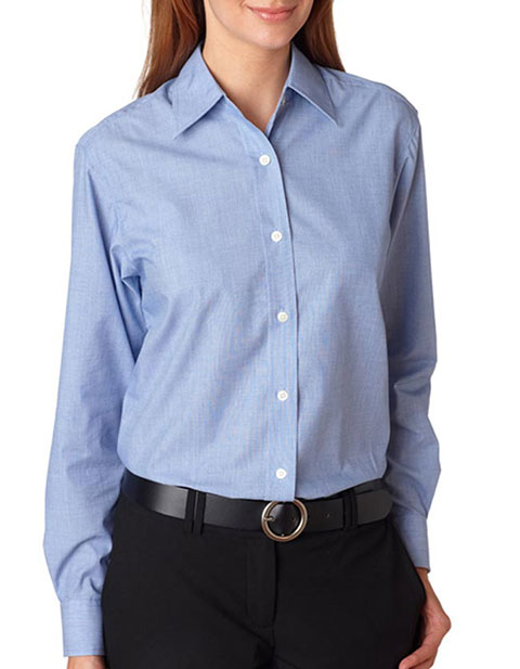 8341 UltraClub Ladies' Wrinkle-Free End-on-End Shirt