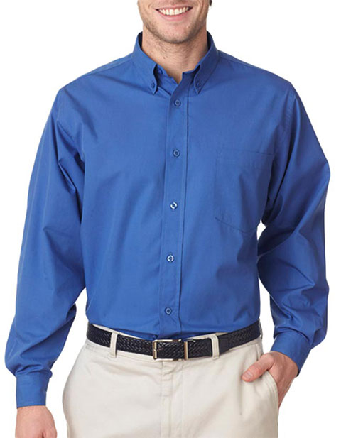 UltraClub Men's Easy-Care Broadcloth