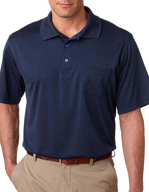 8405P UltraClub® Adult Cool & Dry Mesh Sport Polo with Pocket