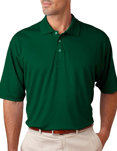 UltraClub® Men's Tall Cool & Dry Mesh Sport Polo