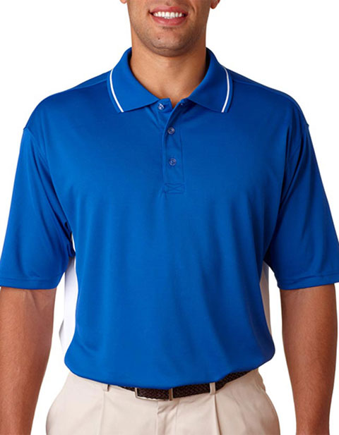 8406 UltraClub Adult Cool & Dry Mesh Sport Two-Tone Polo