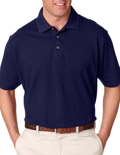 8535T UltraClub® Adult Tall Classic Piqué Polo