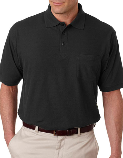 8544 UltraClub Adult Whisper Piqué Polo with Pocket