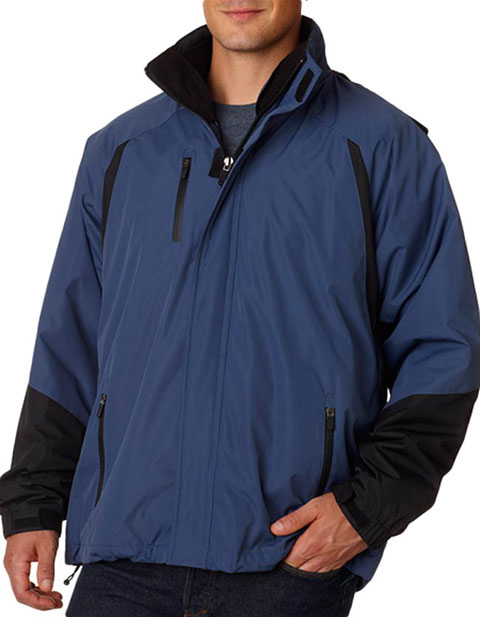 8939 UltraClub® Adult Three-in-One Color Block Systems Jacket