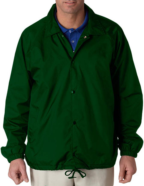 UltraClub Adult Nylon Coaches Jacket