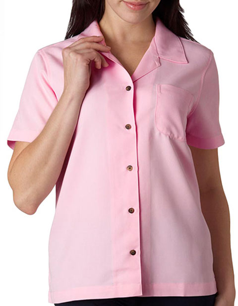 8981 UltraClub Ladies' Cabana Breeze Camp Shirt