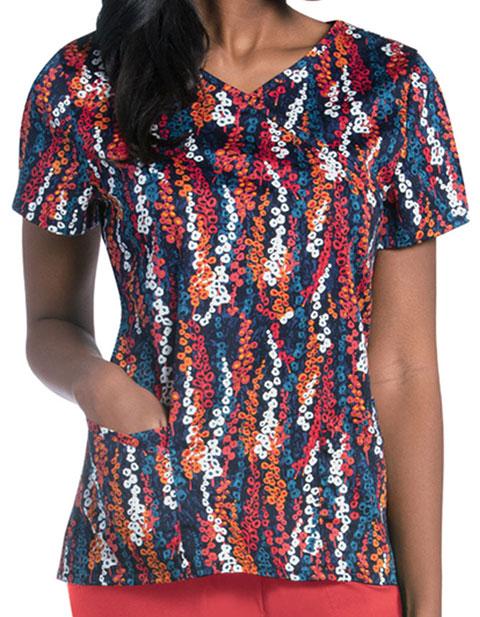 Urbane Women's FREE SPIRIT Print Faux Wrap Tunic