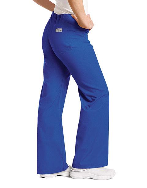 Urbane Women Low Rise Drawstring Boot Cut Tall Medical Scrub Pants